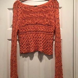 Free People orange sweater